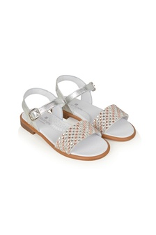 Girls Multicoloured Leather Sandals
