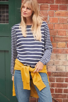 Navy Stripe Long Sleeve T-Shirt