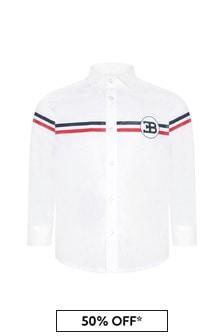 قميص قطن أبيض أولادي منBugatti
