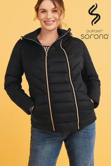 Black Maternity 2-In-1 Shower Resistant Jacket With Dupont™ Sorona® Insulation