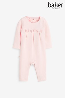 Baker by Ted Baker Pink Bow Romper