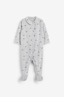 Grey Panda Velour Sleepsuit (0mths-3yrs)