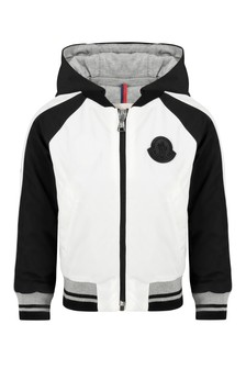 Baby Boys White/Black Sucepin Jacket