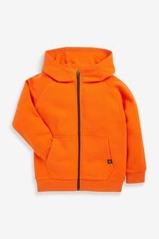 Orange Zip Through Hoodie (3-16yrs)