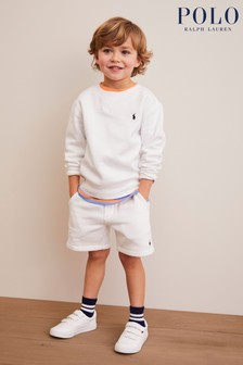 Ralph Lauren White Logo Shorts