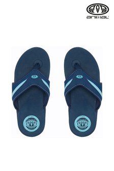 Animal Indigo Blue Fader Flip Flops