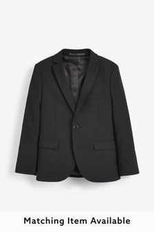 Black Tailored Fit Suit Jacket (12mths-16yrs)