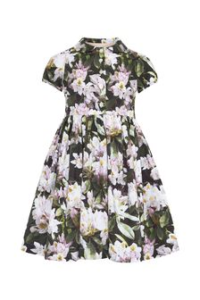 Molo Girls Black Cotton Dress