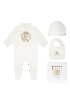Ivory Cotton Babygrow Gift Set