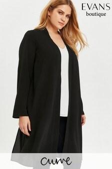 Evans Curve Black Longline Kimono