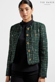 Ted Baker Errina Double Breasted Bouclé Jacket