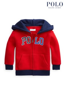 Ralph Lauren Red Polo Zip Hoodie