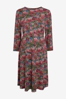 Multi Floral Maternity Jersey Dress