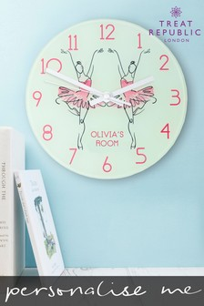 Personalised Ballet Wall Clock by Treat Republic