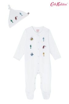 Cath Kidston® Cream Desert Cowboy Sleepsuit And Hat Set