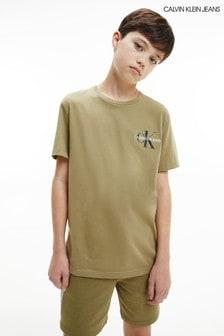 Calvin Klein Jeans Green Chest Monogram Top