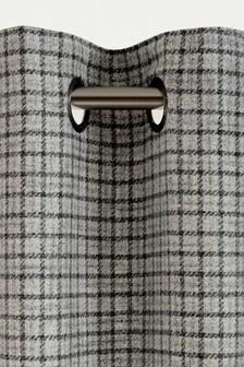 Herringbone Check Eyelet Curtains