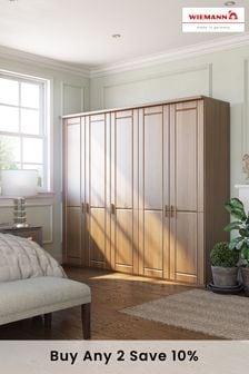 Oak Elmsmore Extra Large Hinged Wardrobe