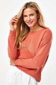 Rust Sunshine Graphic Sweatshirt