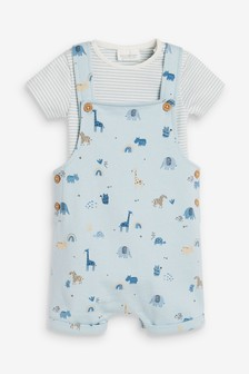 Blue Character Dungarees And Bodysuit Set (0mths-2yrs)
