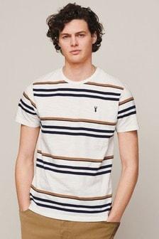 Ecru/Navy Stripe T-Shirt