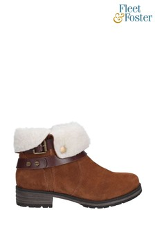 Fleet & Foster Tan Soda Ankle Boots