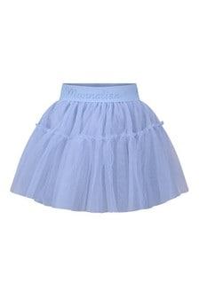 Girls Blue Tulle Skirt