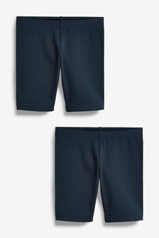 Navy 2 Pack Cycle Shorts (3-16yrs)