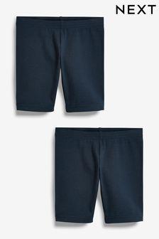 Navy Blue 2 Pack Cycle Shorts (3-16yrs)