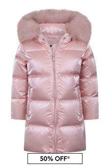 Girls Pink Down Padded Jacket