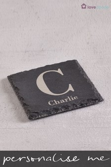 Personalised Initial Slate Coaster by Loveabode