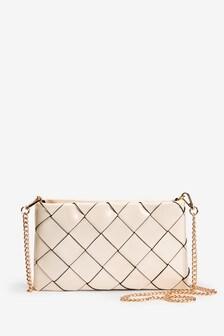 Bone Weave Clutch Bag