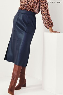 Second Female Francie Leather Midi Skirt