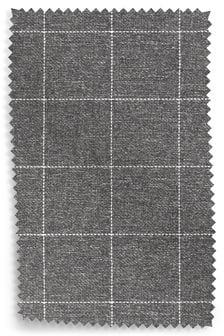 Mid Grey Tweedy Check Lawson Fabric by the Roll