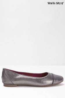 White Stuff Grey Beatrix Ballerina Shoes