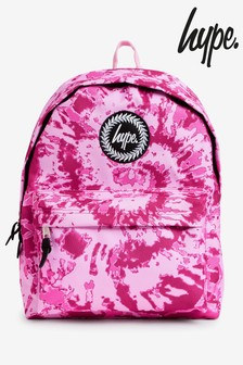 Hype. Pink Swirl Tie Backpack
