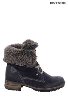 Josef Seibel Blue Sandra Faux Fur Lined Ankle Boots