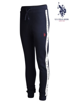 U.S. Polo Assn. Logo Striped Joggers