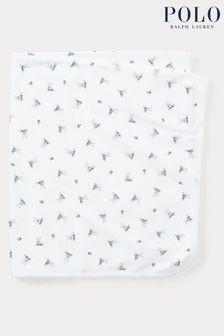 White Ralph Lauren White Bear Blanket