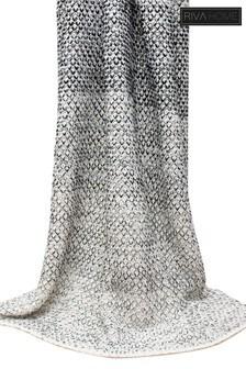 Elina Crochet Knit Throw by Riva Home