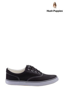 Hush Puppies Black Chandler Lace-Up Trainers