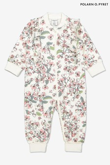 Polarn O. Pyret Natural Organic Cotton Floral All-In-One