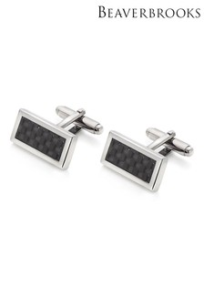 Beaverbrooks Carbon Fibre Men's Cufflinks