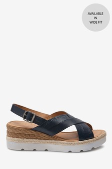 Navy Sports Cross-Over Wedges