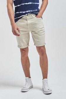 Light Stone Slim Fit Denim Shorts