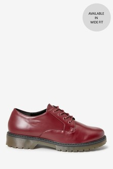 Berry Chunky Sole Lace-Up Shoes