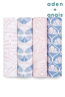 aden + anais Cotton Muslin Deco Large Swaddles 4 Pack