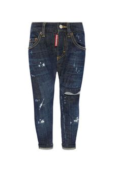 Dsquared2 Kids Baby Boys Blue Cotton Jeans