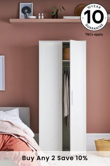 White Flynn Double Wardrobe