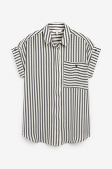 Black Stripe Utility Shirt